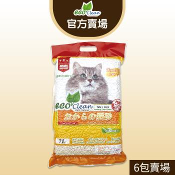 ECO艾可-豆腐貓砂7L-玉米-6入一箱