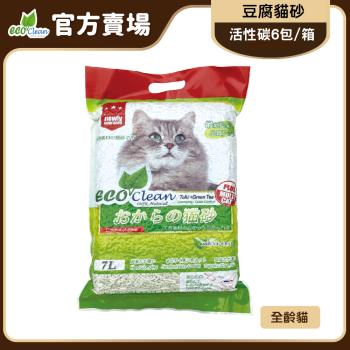 ECO艾可-豆腐貓砂7L-綠茶-6入一箱