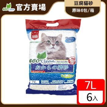 ECO艾可-豆腐貓砂7L-原味-6入一箱