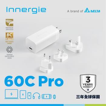 Innergie 60C Pro  60瓦 USB-C 萬用充電器 (國際版) ADP-60BW WTA