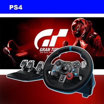 PS4 GT 跑車浪漫旅 競速(中文版)+羅技G29賽車方向盤(含Driving Force Shifter 排檔桿變速器)