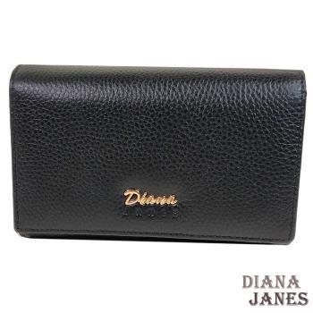 中夾【Diana Janes 黛安娜】牛皮兩折中夾-黑