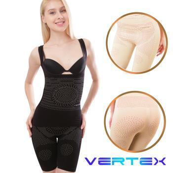 【VERTEX】遠紅外線碧璽石能量極雕塑短褲-黑/膚