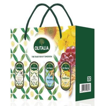奧利塔特級初榨橄欖油250毫升*1罐+純橄欖油250毫升*1罐+玄米油250毫升*1罐+頂級葵花油250毫升*1罐