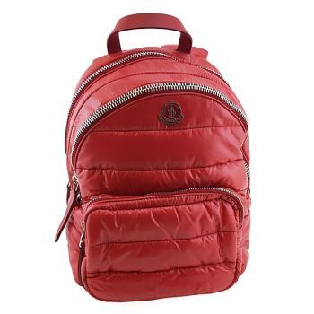 MONCLER 超輕量紅色尼龍帆布雙層式空氣後背包(展示品)