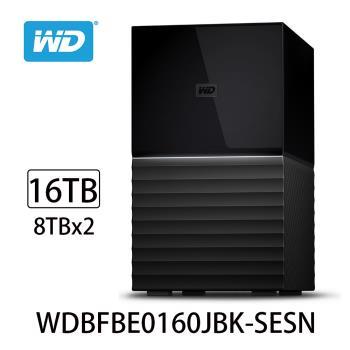 WD威騰 My Book Duo 16TB(8TBx2)USB3.1 3.5吋雙硬碟儲存 WDBFBE0160JBK-SESN