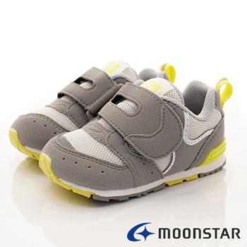 MOONSTAR-日本月星頂級童鞋 HI系列學步機能款- MSB1217灰-13~14.5cm