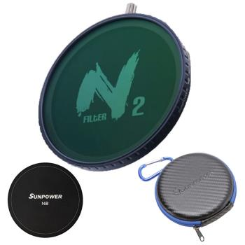 SUNPOWER N2 ND32-ND1000 ND+CPL 磁吸式 可調減光鏡+偏光鏡 67-82mm (含磁吸保護蓋 硬殼濾鏡包)