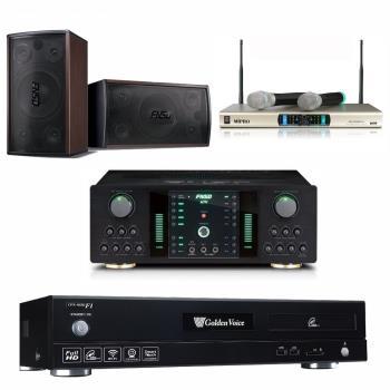 金嗓 CPX-900 F1 智慧點歌卡拉OK點歌機4TB+FNSD NO-1 擴大機+MR-300D IV 無線麥克風+FNSD SD-305 主喇叭
