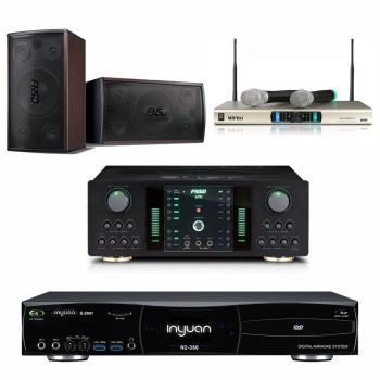 音圓 S-2001 N2-350 卡拉OK點歌機 4TB+FNSD NO-1 擴大機+MR-300D IV 無線麥克風+FNSD SD-305 主喇叭