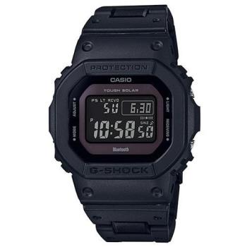 【CASIO】G-SHOCK 5600經典新高峰個性太陽能電波藍芽錶-黑紫(GW-B5600BC-1B)