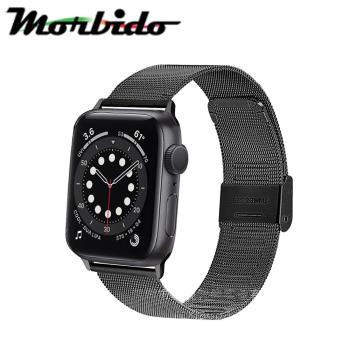 Morbido蒙彼多Apple Watch 6/SE 40mm不鏽鋼編織卡扣式錶帶 黑