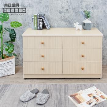 Birdie南亞塑鋼-4.1尺六斗櫃/六抽屜收納櫃/置物櫃(白橡色)