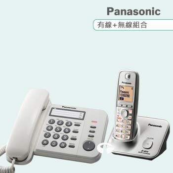 Panasonic 松下國際牌數位子母機電話組合 KX-TS520+KX-TG3711 (經典白+時尚銀)