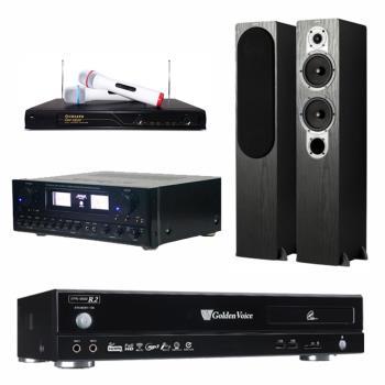 金嗓 CPX-900 R2電腦伴唱機 4TB+SUGAR SAK-5888 擴大機+R-666 無線麥克風+S426 主喇叭(黑)