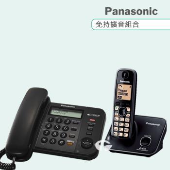 Panasonic 松下國際牌數位子母機電話組合 KX-TS580+KX-TG3711 (經典黑)