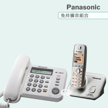 Panasonic 松下國際牌數位子母機電話組合 KX-TS580+KX-TG3711 (經典白+時尚銀)