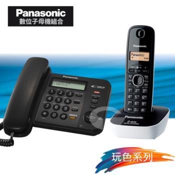 Panasonic 松下國際牌數位子母機電話組合 KX-TS580+KX-TG3411 (經典黑+時尚白)
