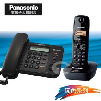 Panasonic 松下國際牌數位子母機電話組合 KX-TS580+KX-TG3411 (經典黑)