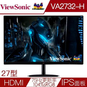 獨家下殺↘Viewsonic優派 VA2732-H 27型IPS面板104%sRGB液晶螢幕