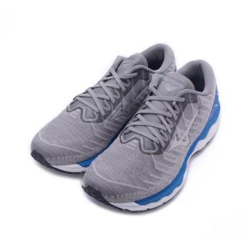 MIZUNO WAVE SKY WAVEKNIT 4 SW 超寬楦慢跑鞋 灰藍 J1GC203938 男鞋