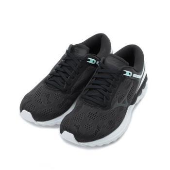 MIZUNO WAVE SKYRISE 慢跑鞋 黑白 J1GD200910 女鞋