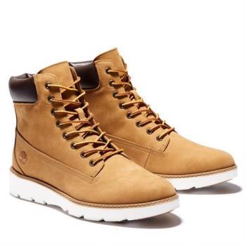 Timberland 女款小麥黃磨砂革休閒中筒靴A26JB231