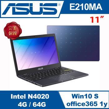 ASUS華碩 E210MA-0041BN4020 輕薄小筆電 夢想藍 11.6吋/N4020/4G/64GB eMMC/W10S/送Office365
