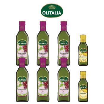 奧利塔葡萄籽油500毫升*6罐+奧利塔頂級葵花油250毫升*2罐