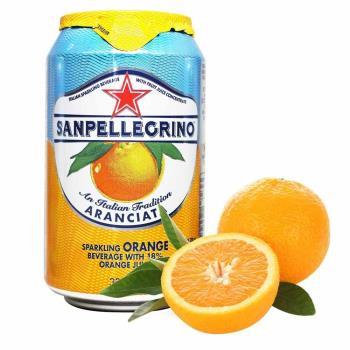 美式賣場 聖沛黎洛 氣泡水果飲料 甜橙口味6入
