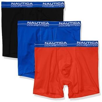 NAUTICA  2020男時尚黑藍紅四角修飾內著混搭3件組