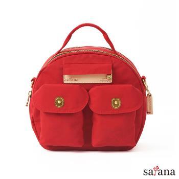 【satana】Soldier Mini 輕旅行後背包/保齡球包-紅色