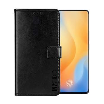 IN7 瘋馬紋 vivo X50 Pro (6.56吋) 錢包式 磁扣側掀PU皮套 吊飾孔 手機皮套保護殼