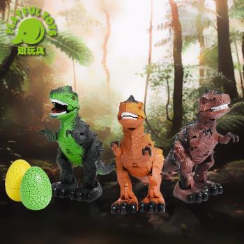Playful Toys 頑玩具 電動恐龍 168-11 (動物模型 侏儸紀世界 自動前進 聲光音效 驚奇蛋)