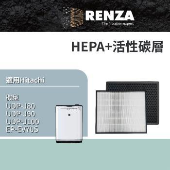 RENZA濾網 適用ITACHI日立UDP-J80 J90 J100 EPF DV1000 空氣清淨機 濾芯