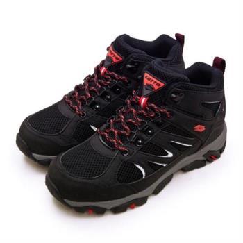 【LOTTO】男 專業多功能防水郊山戶外健行登山鞋 SABRE MID 3系列(黑灰 1250)