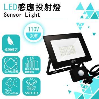 太星電工 LED 全方位感應投射燈30W1入(WDC1030)