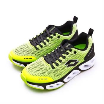 【LOTTO】男 專業風動慢跑鞋 AIR FLOW 4.0系列(螢黃黑 1904)