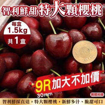 果物樂園-智利鮮採9R櫻桃禮盒(每盒1.5kg±10%含盒重)