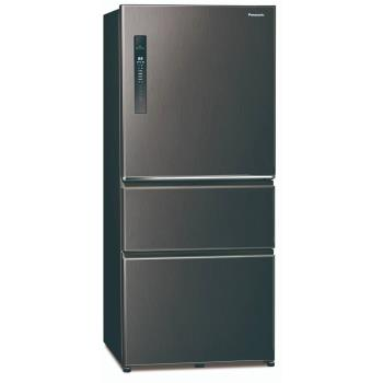 送多功能雙面砧板+6吋陶瓷刀★Panasonic國際牌610L一級能效三門變頻冰箱(絲紋黑)NR-C611XV-V -庫-Y