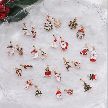 梨花HaNA  韓國白色聖誕節到了.妝點星光髮夾耳環多款選