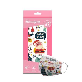 【Beauty小舖】印花3層防護口罩_聖誕節-聖誕老人(10入/盒)- 符合CNS 14774國家檢驗標準