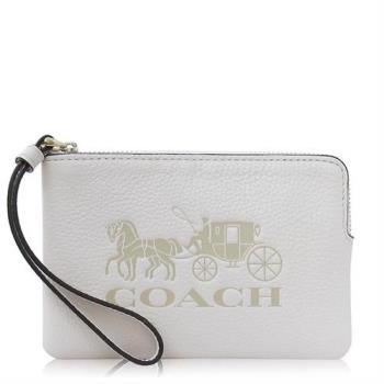 COACH 鵝卵石皮革 / JES 小款 / 手拿包_白色