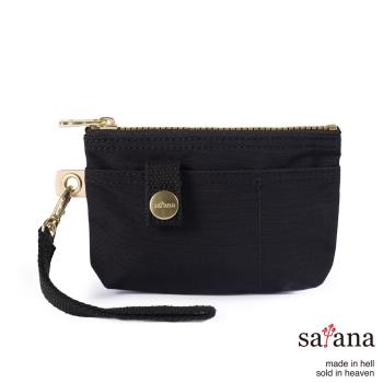 【satana】Soldier 實用拉鍊化妝包/零錢包-黑色
