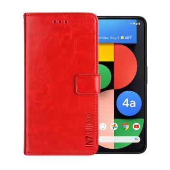 IN7 瘋馬紋 Google Pixel 4a 5G (6.2吋) 錢包式 磁扣側掀PU皮套 吊飾孔 手機皮套保護殼