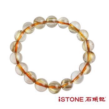 石頭記  天然鈦晶手鍊-財富能量(唯一精品)
