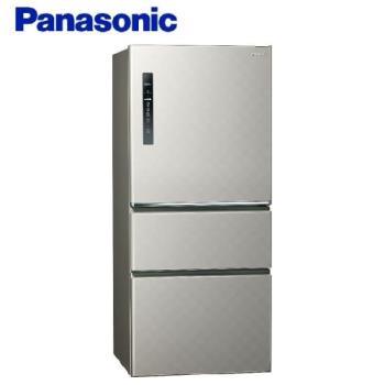 買就送多功能雙面砧板+6吋陶瓷刀★Panasonic國際牌 610L 一級能效 三門變頻電冰箱(絲紋灰) NR-C610HV-L -庫(G)