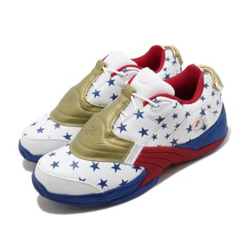 Reebok 籃球鞋 Answer V MU 運動 男鞋 明星款 戰神 星星 球鞋 穿搭 白 藍 FW7486 [ACS 跨運動]