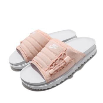 Nike 涼拖鞋 Asuna Slide 套腳 女鞋 輕便 舒適 夏日 簡約 穿搭 白 粉 CI8799100 [ACS 跨運動]