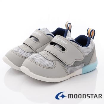 MOONSTAR-日本月星頂級童鞋 -寶寶穩定款- MSCNB2487灰-13~14.5cm